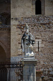 13th century Cefalu Cathedral in Cefalu, Sicily Stock Photo