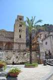 13th century Cefalu Cathedral in Cefalu, Sicily Royalty Free Stock Photo