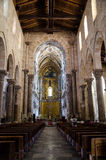 13th century Cefalu Cathedral in Cefalu, Sicily Royalty Free Stock Photography