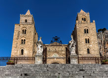 13th century Cefalu Cathedral in Cefalu, Sicily, Italy Stock Image