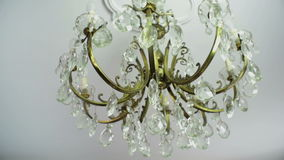 19th century chandelier stock footage