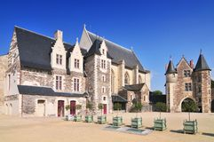 The 15th century chapel Chateau d`Angers. Is a castle in the city of Angers in the Loire Valley in the departement of Maine et Loire in France royalty free stock photography