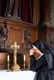 Nun in chapel Stock Photos