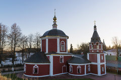 15th century Church of  Assumptionin Suzdal.  Golden Ring Travel of Russia. Stock Images