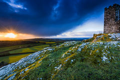 13th Century Church in Brentor, England on hill top Royalty Free Stock Image