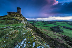 13th Century Church in Brentor, England on hill top Stock Photography