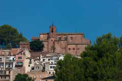 12th Century church. Church located in Corbera de Llobregat, constructed in the 12th Century Royalty Free Stock Photos