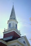 19th century church steeple in early morning sun Royalty Free Stock Image