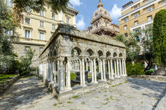 12th century cloisters Genoa, Italy. Stock Photos