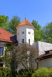 14th century defense Castle Pieskowa Skala , castle outbuilding, near Krakow, Poland Stock Photography