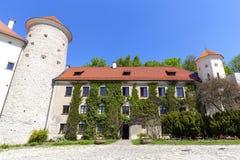 14th century defense Castle Pieskowa Skala , castle outbuilding,near Krakow, Poland Royalty Free Stock Photography