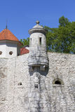 14th century defense Castle Pieskowa Skala ,defensive wall, near Krakow, Poland. Located in Ojcowski National Park, is one of the best-known examples of a Royalty Free Stock Photo