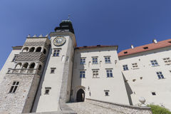 14th century defense Castle Pieskowa Skala , fortified entrance, near Krakow, Poland Royalty Free Stock Images