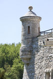 14th century defense Castle Pieskowa Skala ,near Krakow, Poland. 14th century defense Castle Pieskowa Skala , clock tower, near Krakow, Poland. Located in Royalty Free Stock Photography