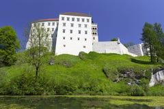 14th century defense Castle Pieskowa Skala , near Krakow, Poland Royalty Free Stock Images