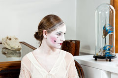 18th century enlightment make-up girl Royalty Free Stock Photography