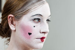 18th century enlightment make-up girl royalty free stock images