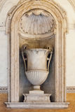 17th Century Era Vase Statue in the Palazzo Mattei di Giove Royalty Free Stock Image