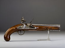 18th Century flintlock pistol. Royalty Free Stock Image