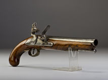 18th Century flintlock pistol. Stock Photos
