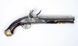 18th century flintlock pistol Stock Images