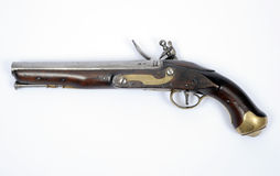 18th century flintlock pistol Stock Photography