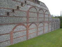 20th Century fort wall Royalty Free Stock Image