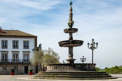 18th Century fountain in Ponte de Lima royalty free stock image