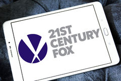 21th century fox logo. Logo of the american 21th century fox on samsung tablet Stock Photography