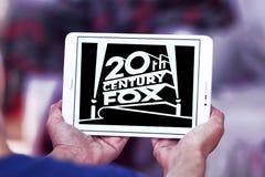 20th century fox logo. Logo of the american 20th century fox on samsung tablet Royalty Free Stock Image