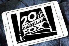20th century fox logo. Logo of the american 20th century fox on samsung tablet stock image