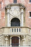 14th century Gdansk Main Town Hall on Royal Route, facade, Gdansk, Poland.  Stock Photo