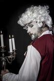 19th century, gentleman rococo era wig. Gentleman rococo era wig, man dressed in vintage Stock Photo