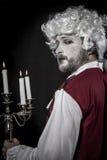 19th century, gentleman rococo era wig. Gentleman rococo era wig, man dressed in vintage Stock Images
