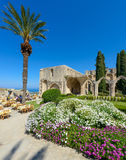 13th century Gothic monastery at Bellapais,northern cyprus 2. 13th century Gothic monastery at Bellapais on the northern slopes of the Pentadaktylos Mountains in stock image
