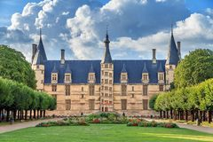Palais ducal de Nevers. The 15th century historical monument Ducal Palace of Nevers Palais ducal de Nevers is the first of the river Loire's castles, with its Stock Images