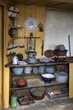 19th century kitchen - Netherlands. 19th century kitchen or scullery in an old Dutch farmhouse. Zuiderzee Open Air Museum in the Netherlands Royalty Free Stock Photography