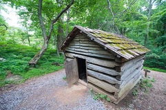 19th Century Log Barn in Appalachians 2 Stock Photos
