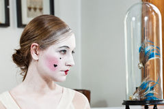 18th century make-up girl Royalty Free Stock Image