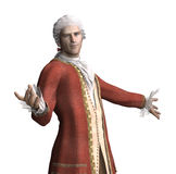18th Century Man Welcomes You Royalty Free Stock Image