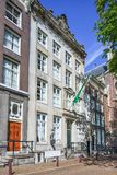 17th century mansion in old city center of Amsterdam, Netherlands Royalty Free Stock Photo
