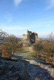 13th century medieval castle in Holloko, Hungary,3 Jan 2016 Royalty Free Stock Image