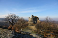 13th century medieval castle in Holloko, Hungary,3 Jan 2016 Stock Images