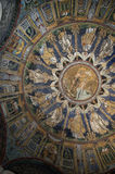 10th Century Mosaic dome in Ravenna Italy Stock Photo