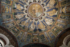 10th Century Mosaic in Ravenna Italy Stock Images