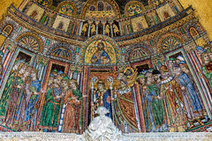 13th-century mosaic of the reception of St. Mark's body into S Royalty Free Stock Photo