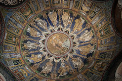 10th Century Mosaic roof in Ravenna Italy Stock Photo