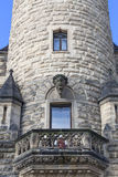 17th century  Moszna Castle, tower with details, Upper Silesia,Poland Royalty Free Stock Photos