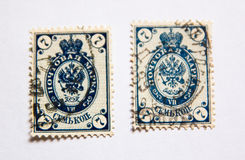 19th century postage stamps Stock Photography