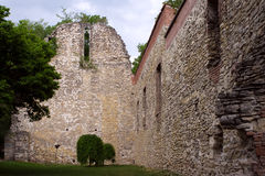 13th century ruin on Margaret Island, Budapest, Hungary. 13th century ruins of a Franciscan church on Margaret Island (Margit-sziget), Budapest, Hungary Royalty Free Stock Image